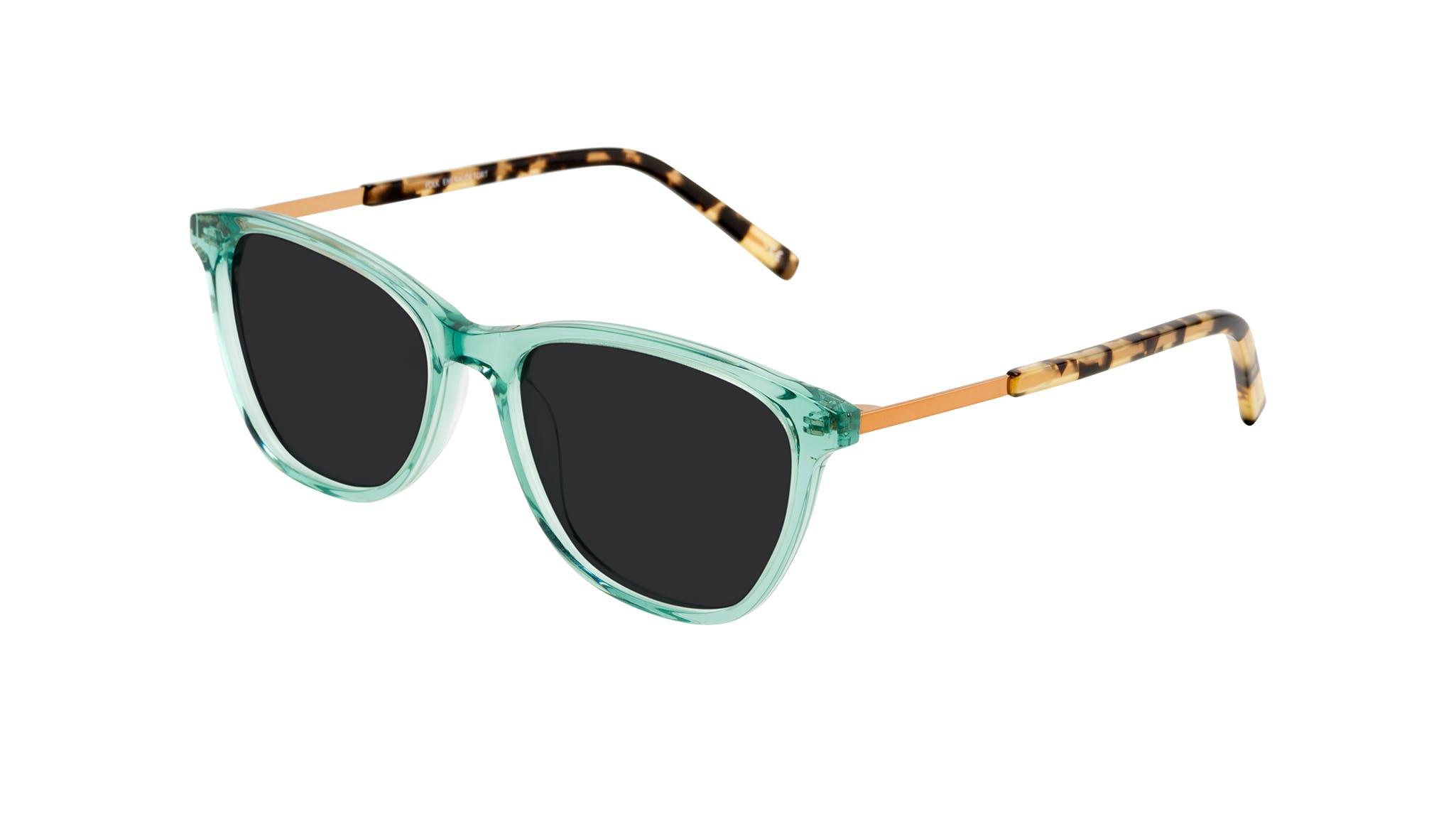 Affordable Fashion Glasses Cat Eye Rectangle Sunglasses Women Folk Emeraude Tort Tilt