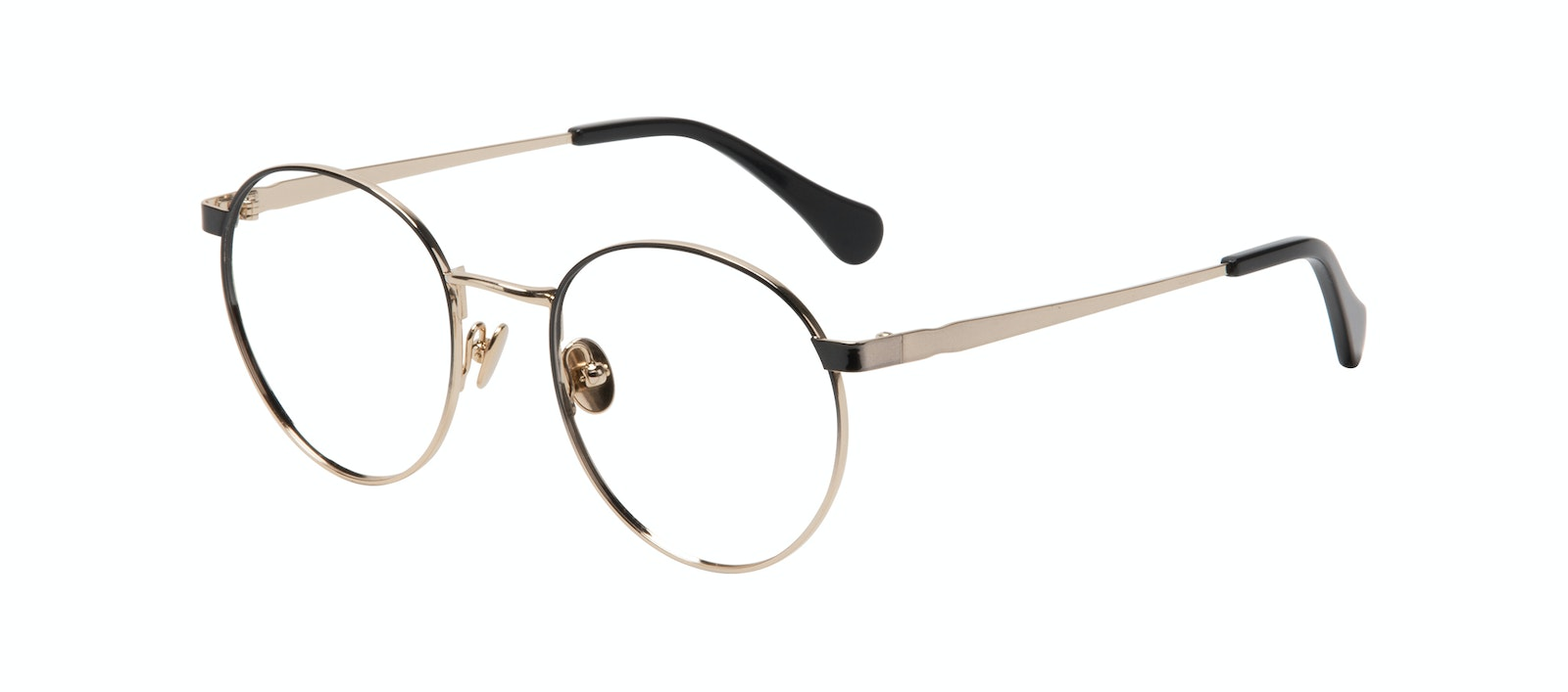 Affordable Fashion Glasses Round Eyeglasses Women Foundry Deep Gold Tilt