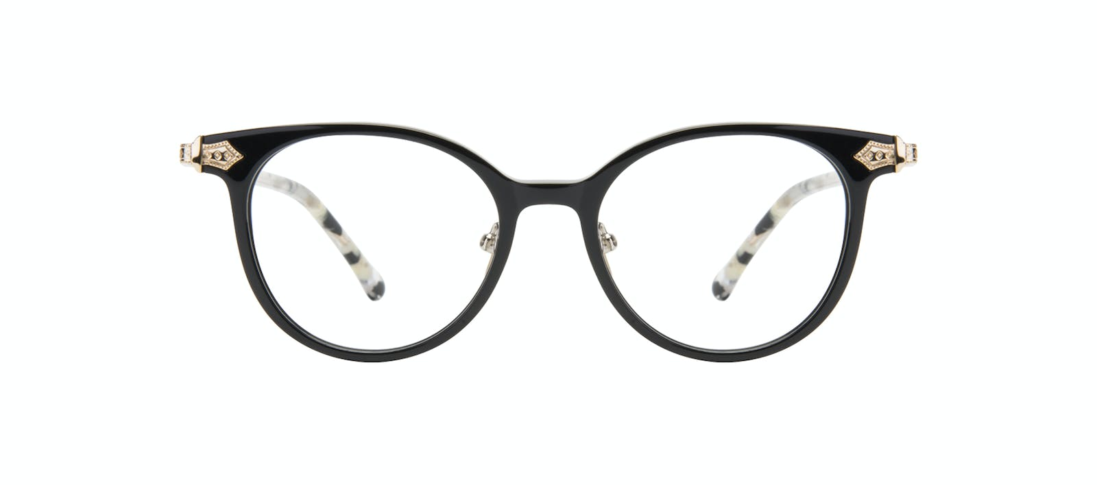 0bcd0d67be2 Affordable Fashion Glasses Round Eyeglasses Women Gem Onyx Marble Front
