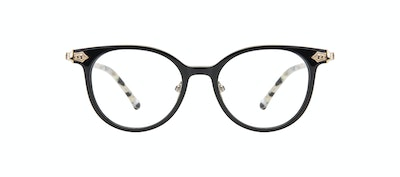 Affordable Fashion Glasses Round Eyeglasses Women Gem Onyx Marble Front