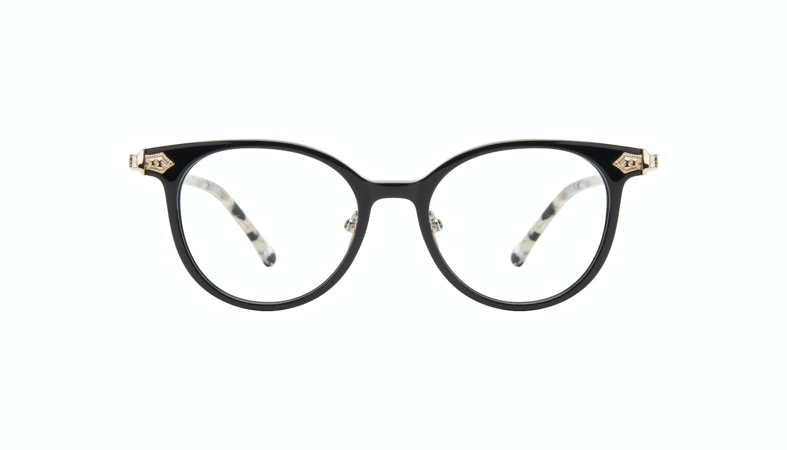 Affordable Fashion Glasses Round Eyeglasses Women Gem Onyx Marble