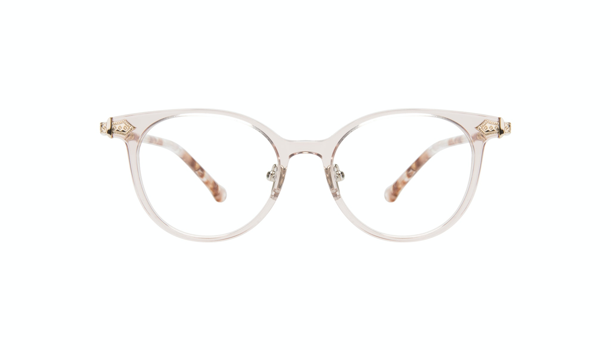 Affordable Fashion Glasses Round Eyeglasses Women Gem Pink Quartz
