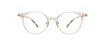 Affordable Fashion Glasses Round Eyeglasses Women Gem Pink Quartz Front
