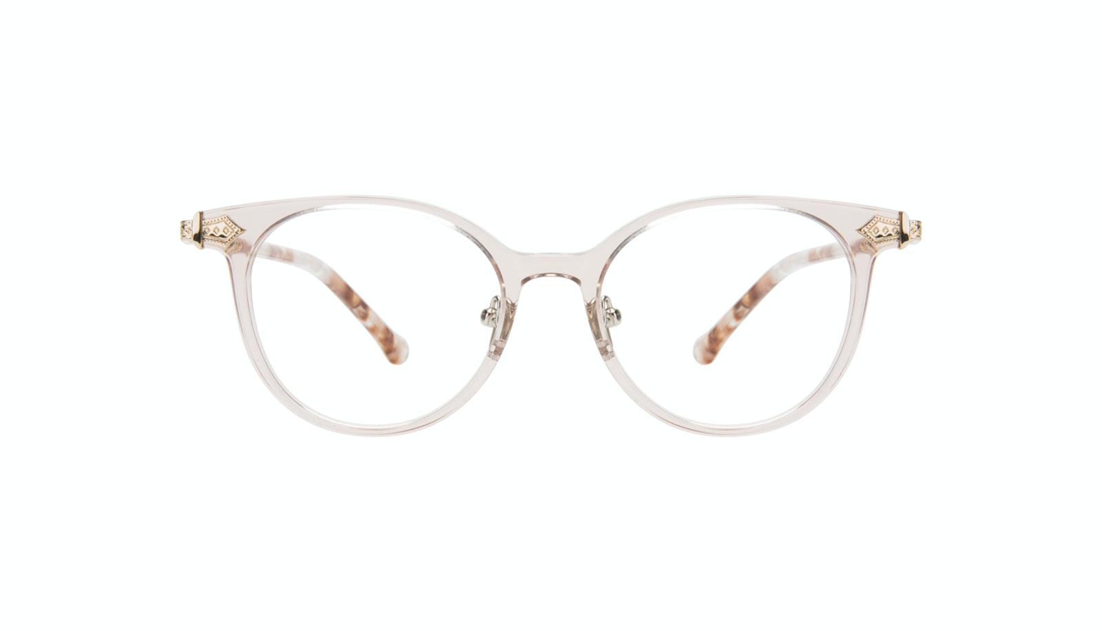 Affordable Fashion Glasses Round Eyeglasses Women Gem Pink Quartz
