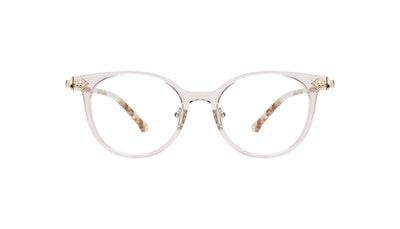 Affordable Fashion Glasses Round Eyeglasses Women Gem Pink Quartz Front