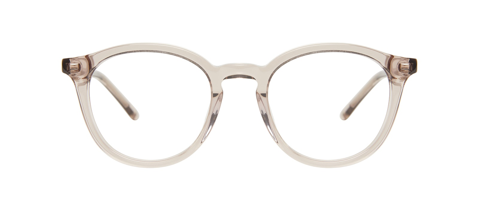 Affordable Fashion Glasses Round Eyeglasses Kids Gent Junior Sand Front