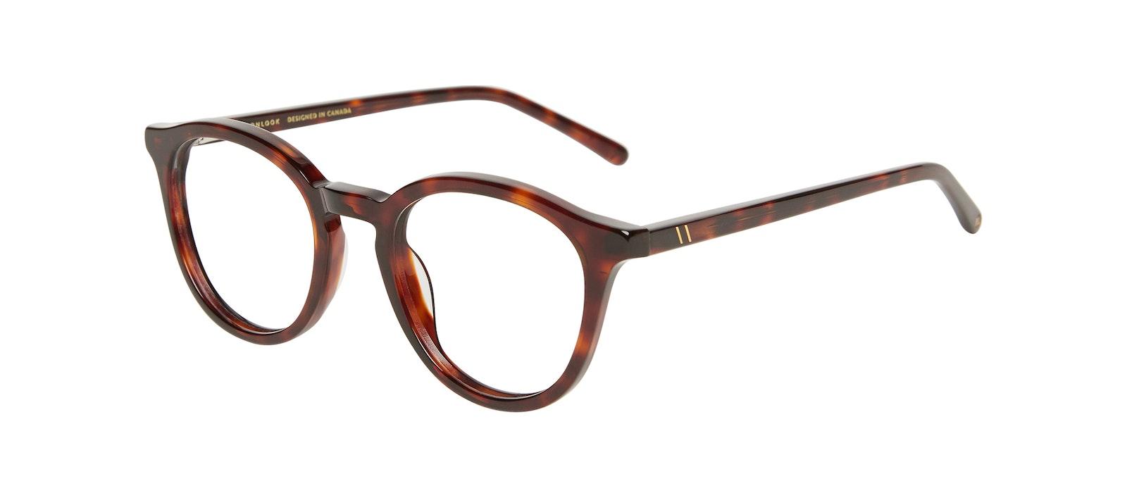 Affordable Fashion Glasses Round Eyeglasses Kids Gent Junior Tortoise Tilt