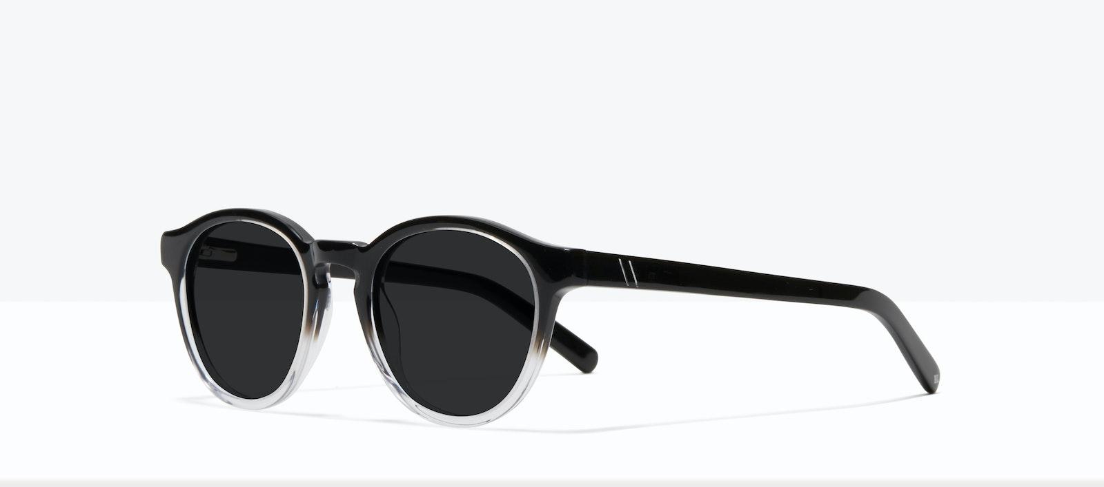 Affordable Fashion Glasses Round Sunglasses Men Gent S Onyx Clear Tilt