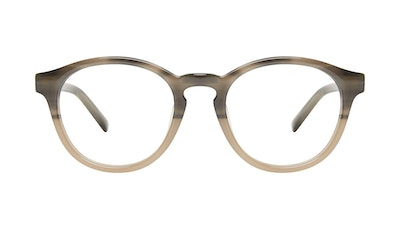 Affordable Fashion Glasses Round Eyeglasses Men Gent Two Tone Stone Front