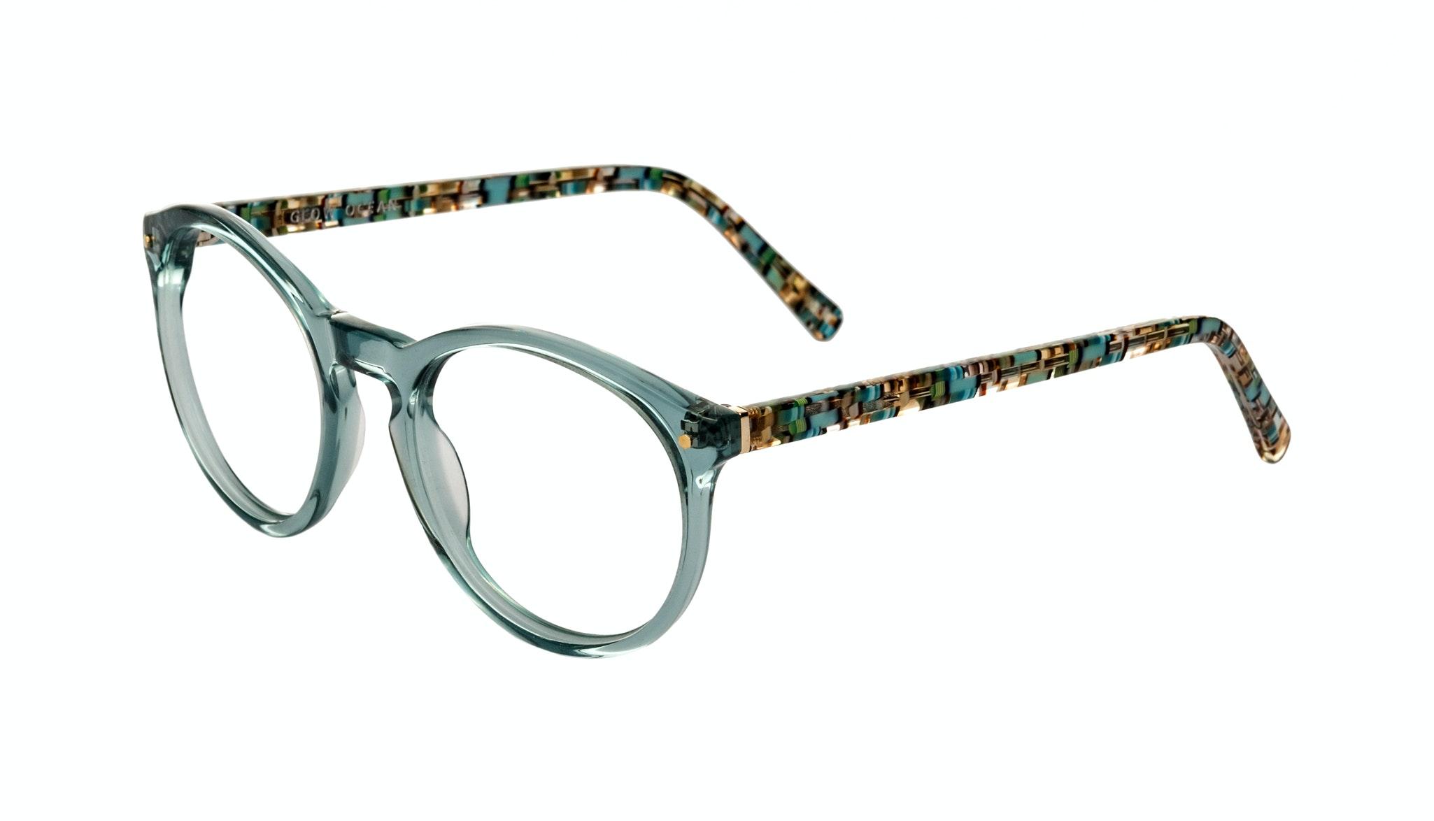 Affordable Fashion Glasses Round Eyeglasses Women Glow Ocean Tilt