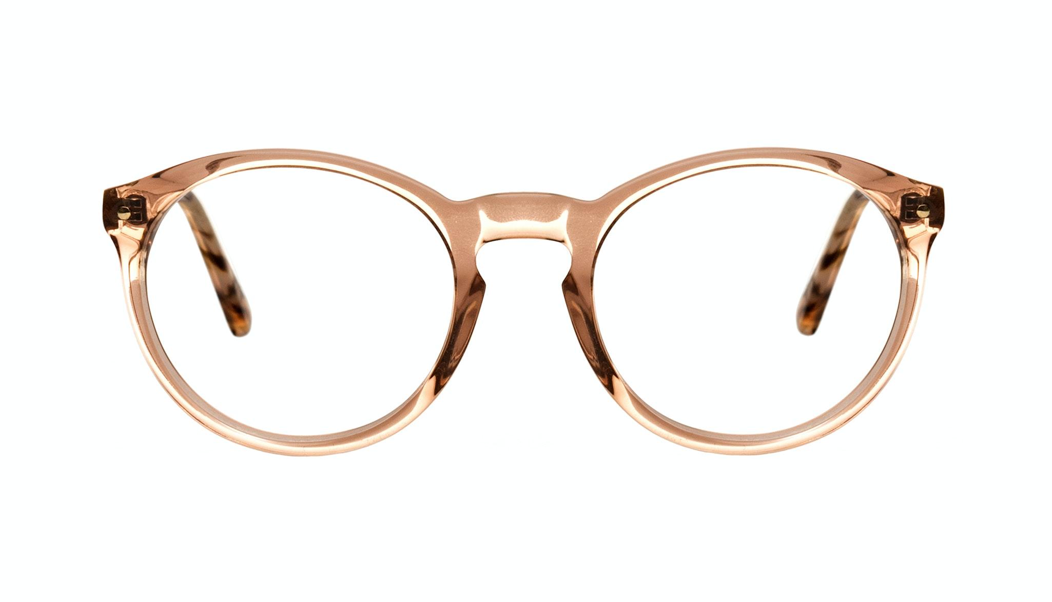 Affordable Fashion Glasses Round Eyeglasses Women Glow Pink Tortoise Front