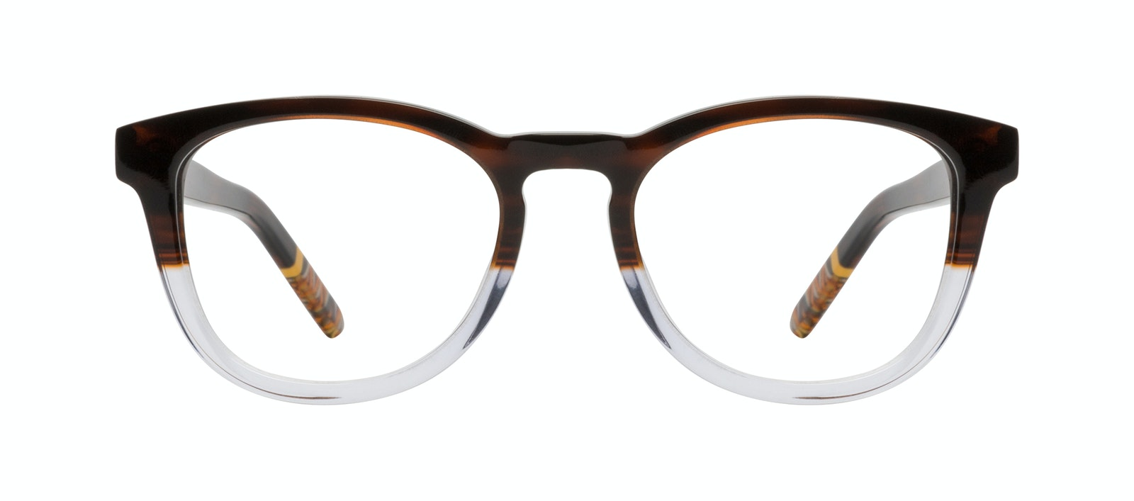 Affordable Fashion Glasses Round Eyeglasses Men Goal Bark Front