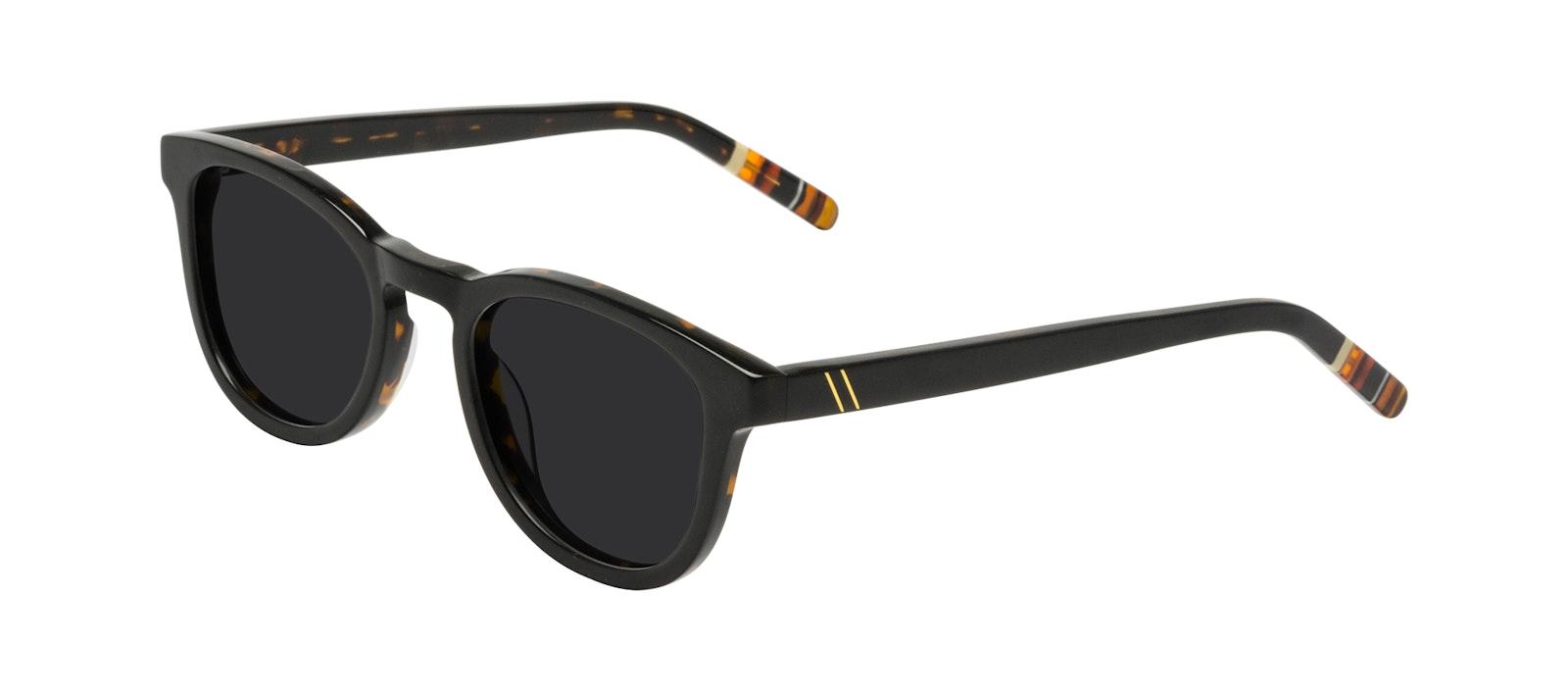 Affordable Fashion Glasses Round Sunglasses Men Goal Black Tort Tilt