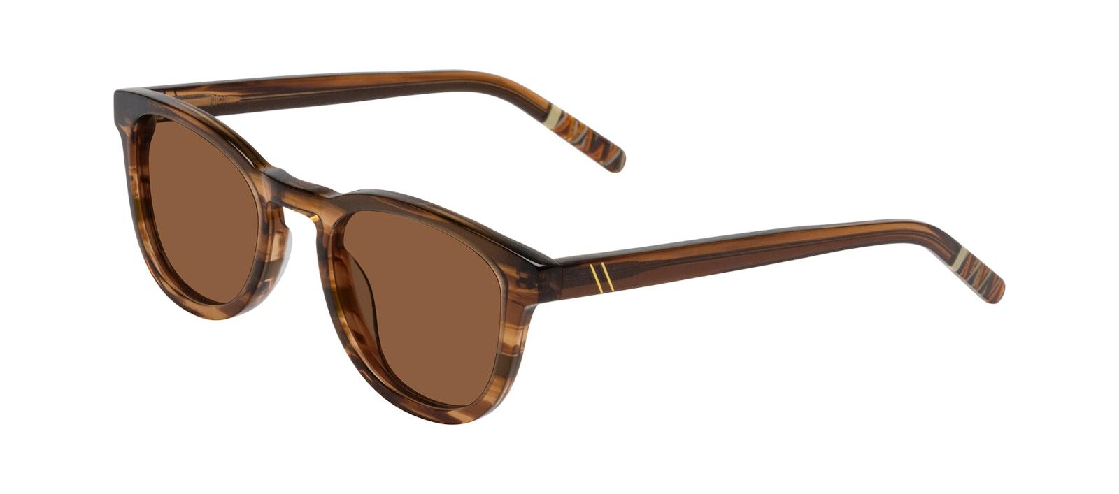Affordable Fashion Glasses Round Sunglasses Men Goal Smokey Havana Tilt