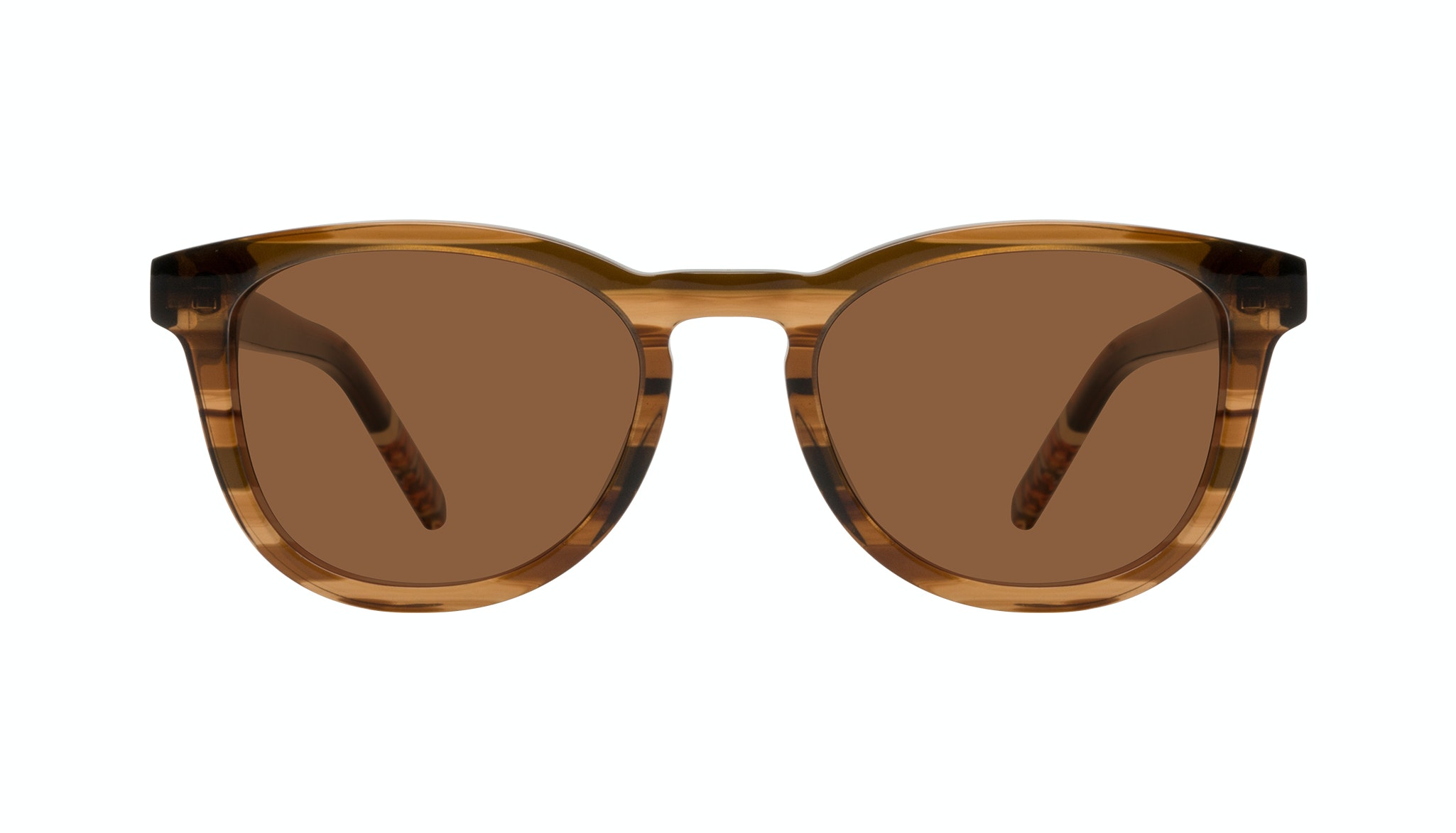 Affordable Fashion Glasses Round Sunglasses Men Goal Smokey Havana Front