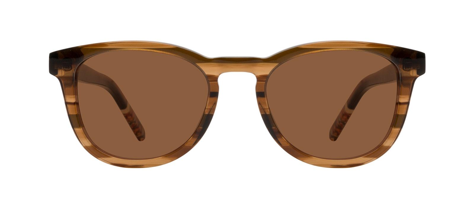 Affordable Fashion Glasses Round Sunglasses Men Goal Smokey Havana Front