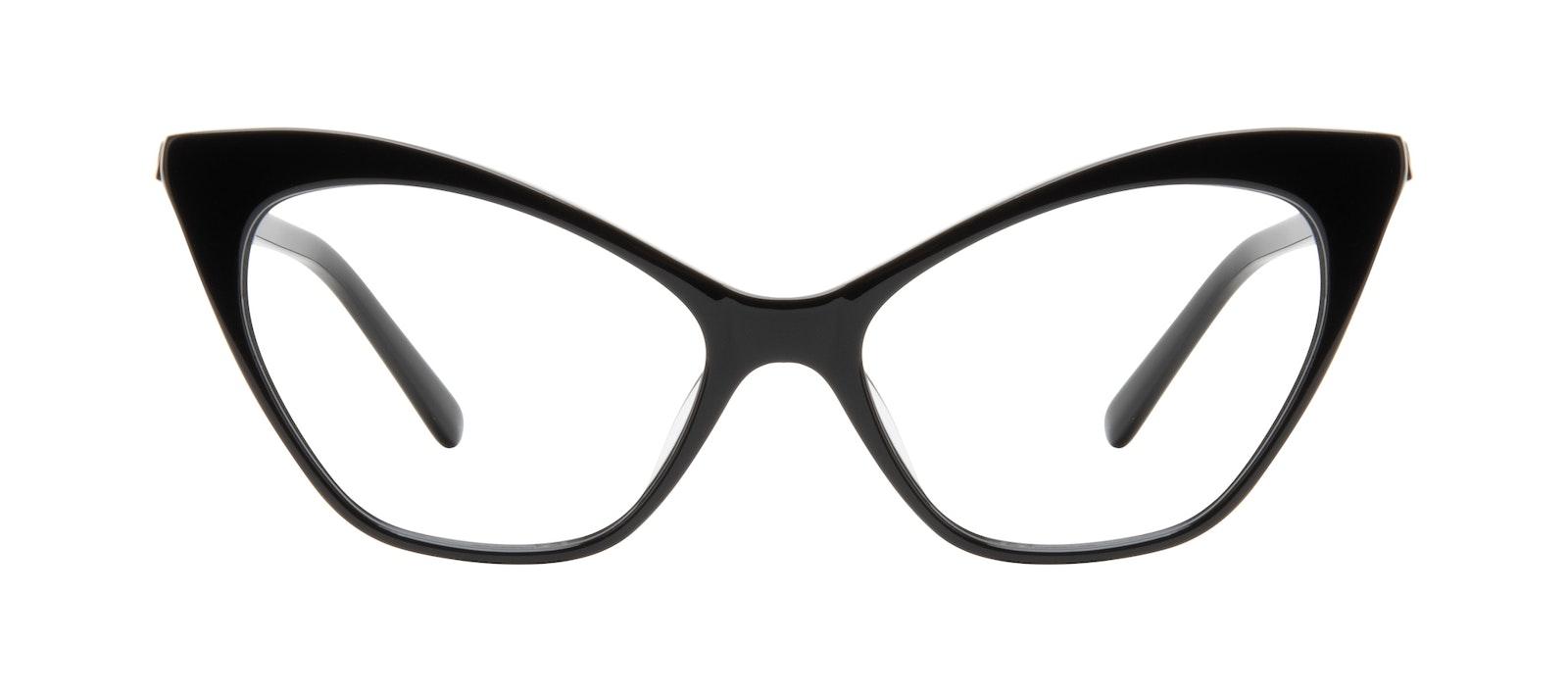 Lunettes tendance Oeil de chat Lunettes de vue Femmes Gossip Onyx Face