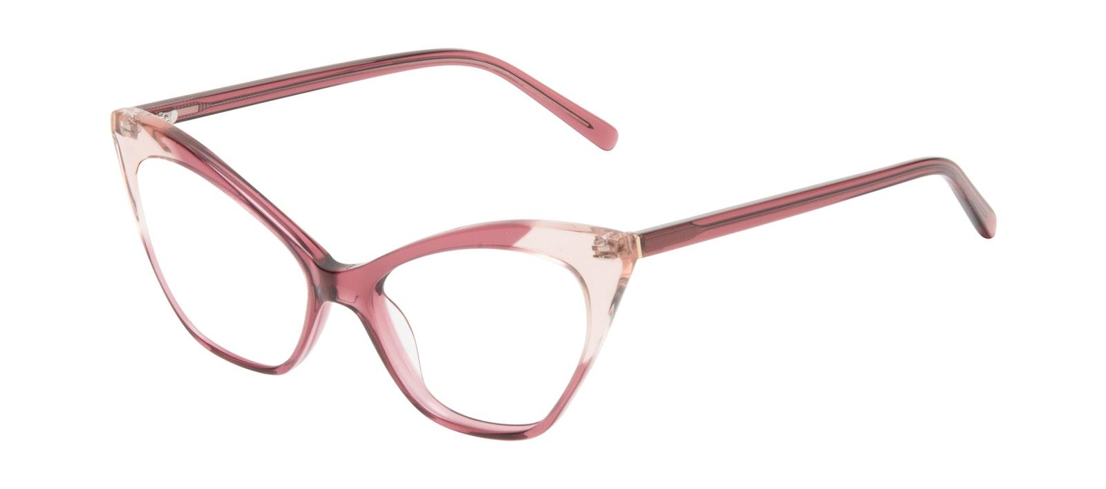 Lunettes tendance Oeil de chat Lunettes de vue Femmes Gossip Orchid Pink Incliné