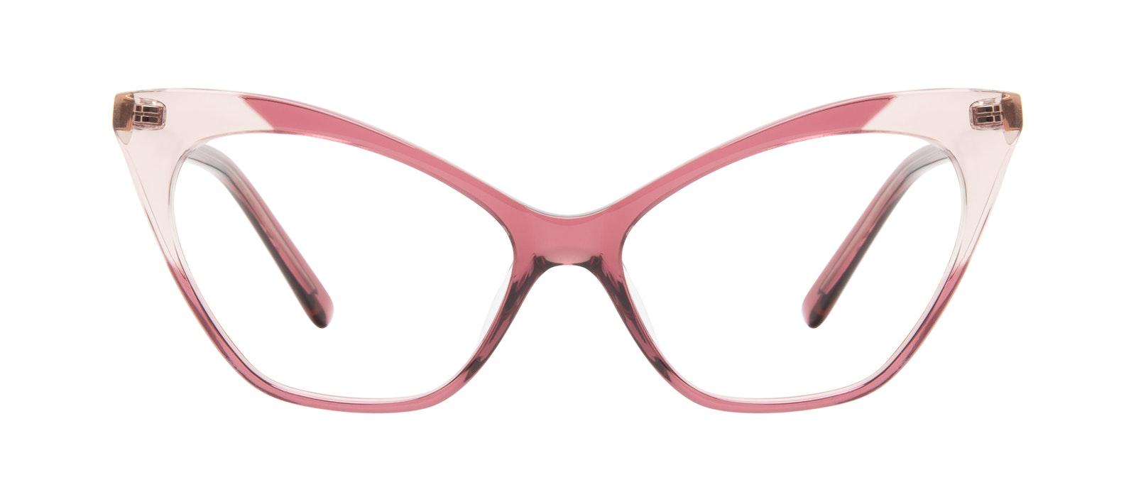 Lunettes tendance Oeil de chat Lunettes de vue Femmes Gossip Orchid Pink Face