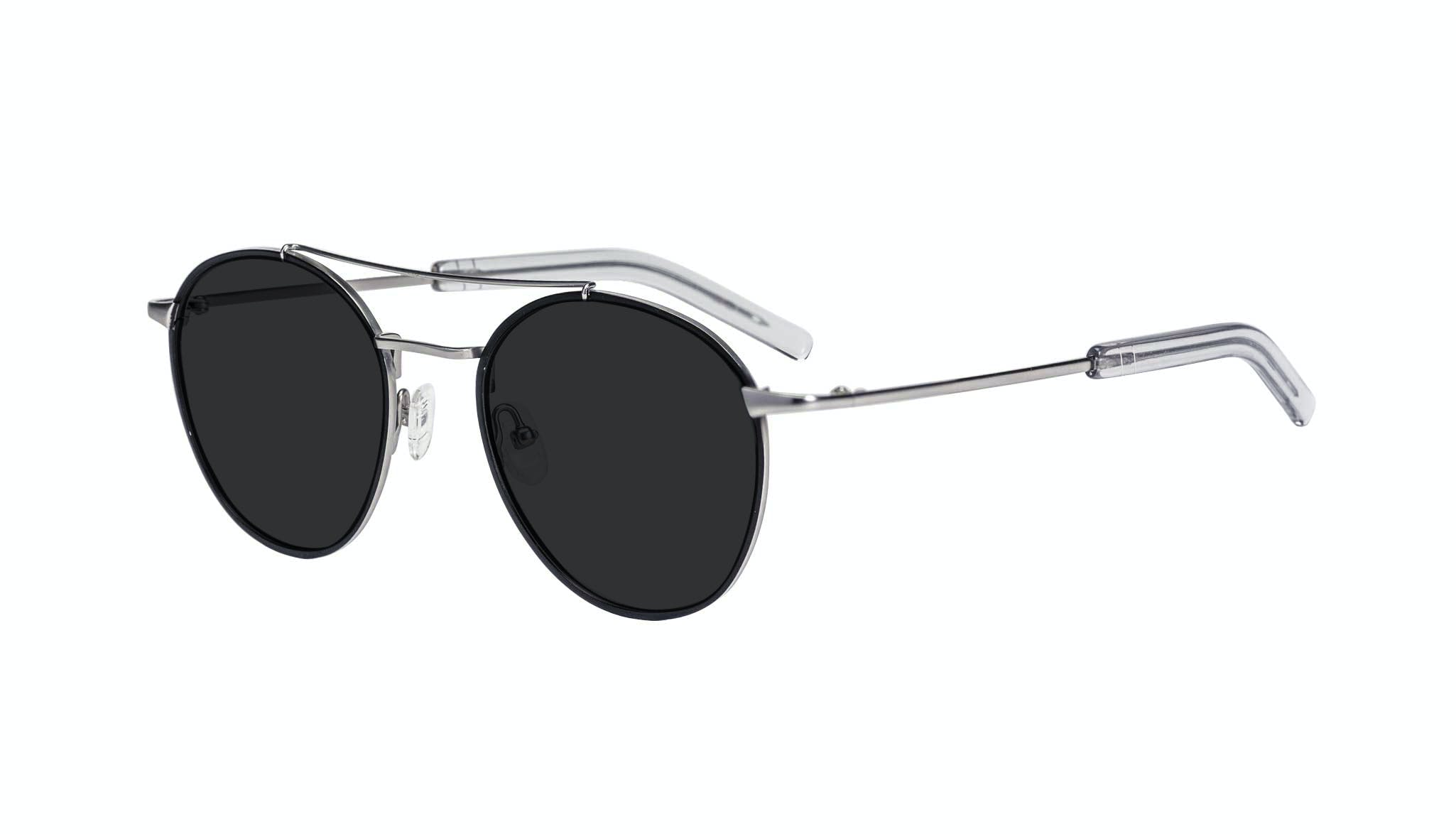 Affordable Fashion Glasses Aviator Sunglasses Men Gravity Black Silver Tilt