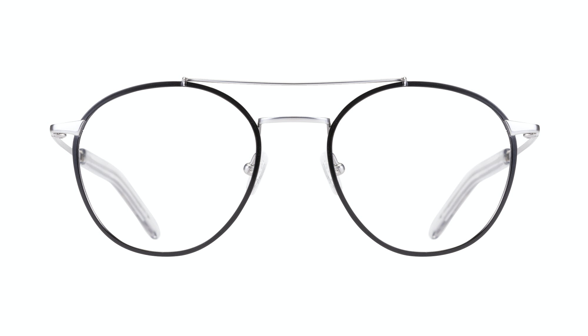 Affordable Fashion Glasses Aviator Eyeglasses Men Gravity Black Silver Front