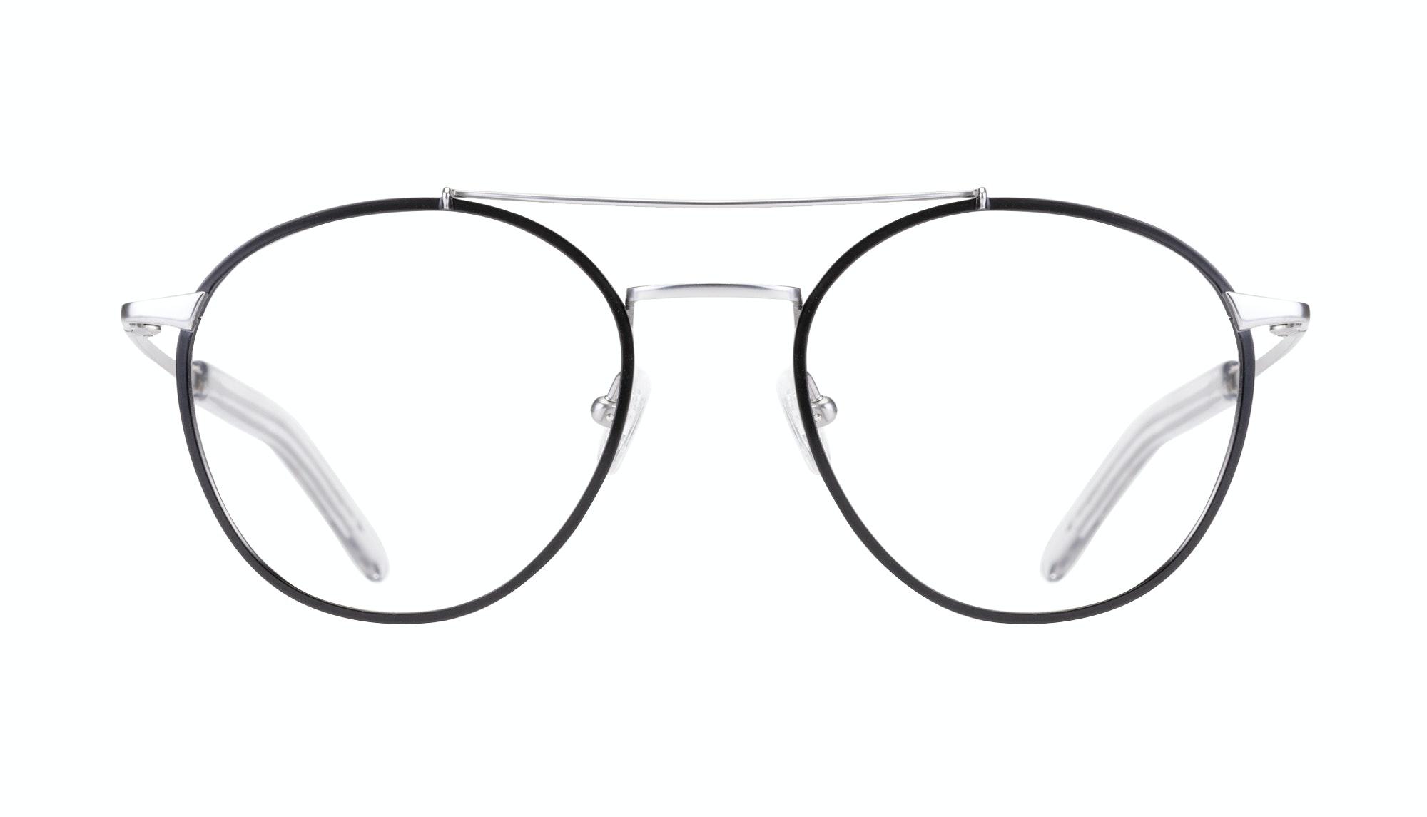 Affordable Fashion Glasses Aviator Eyeglasses Men Gravity Black Silver Front