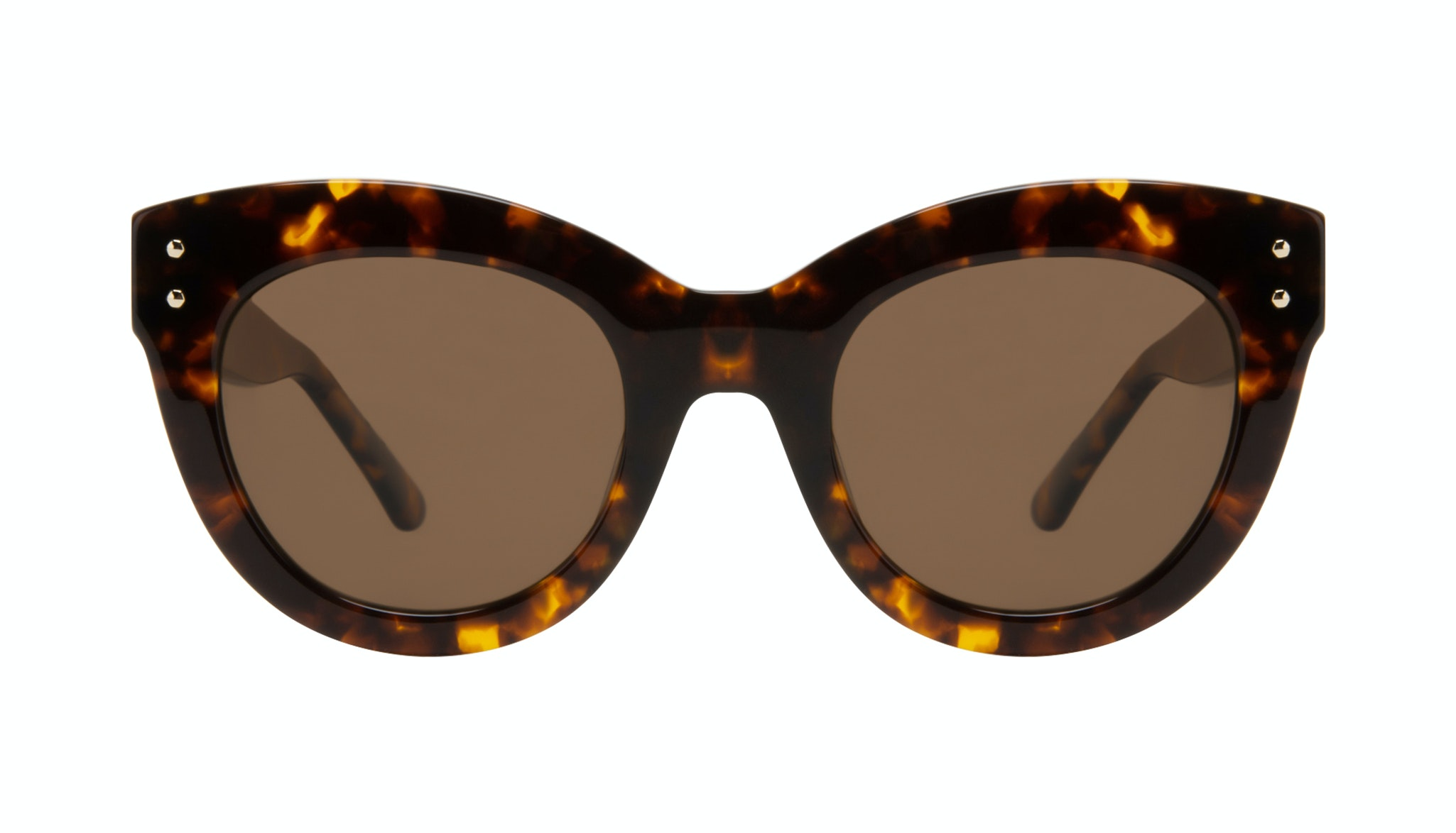 Affordable Fashion Glasses Cat Eye Sunglasses Women Groove Tortoise Front