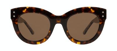 Lunettes tendance Oeil de chat Lunettes de soleil Femmes Groove Tortoise Face