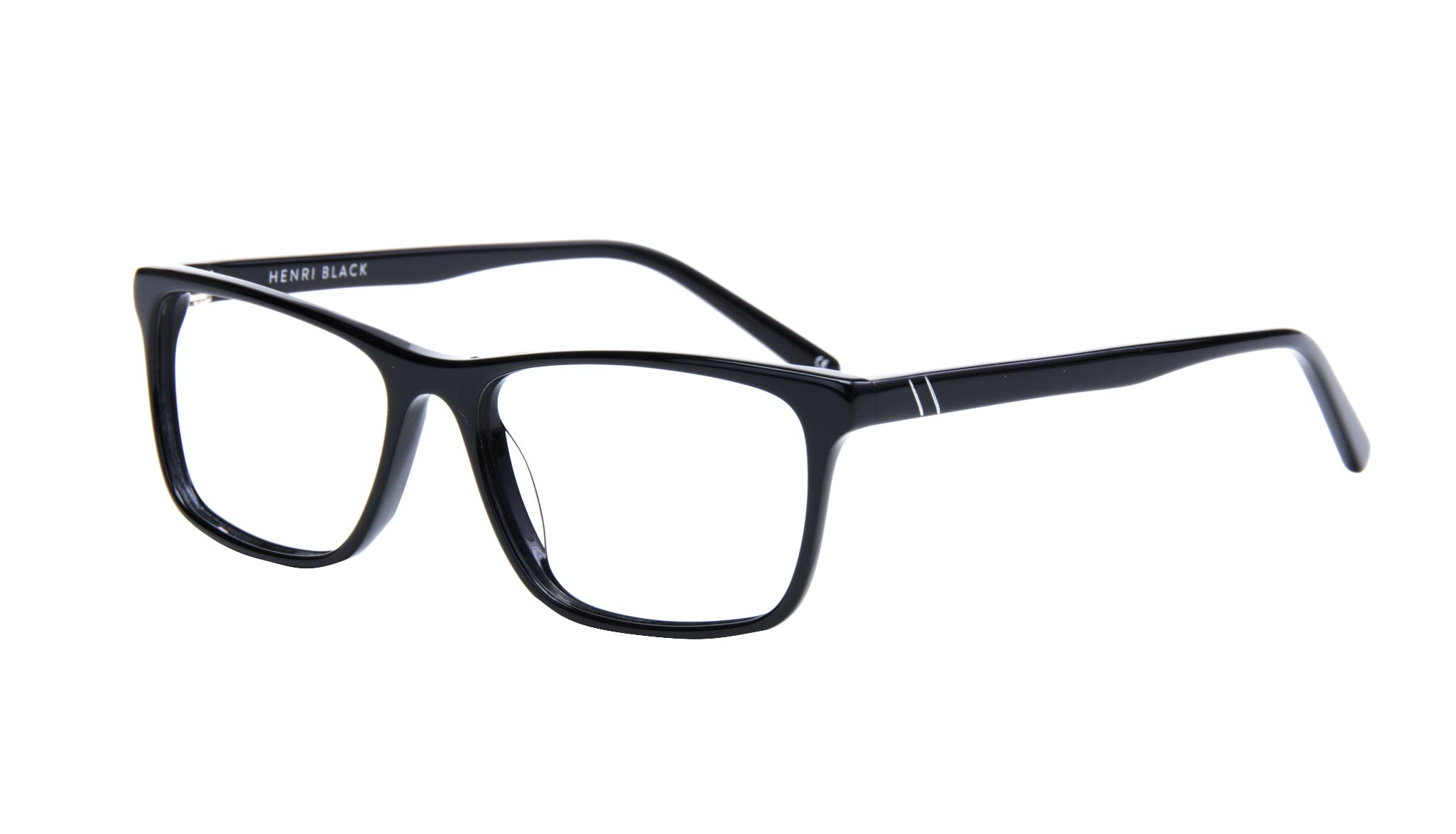 Affordable Fashion Glasses Rectangle Eyeglasses Men Henri Black  Tilt