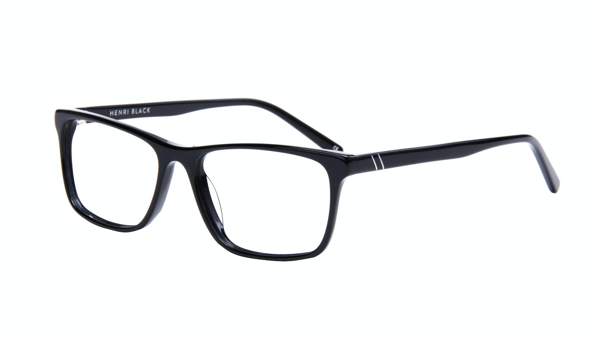 Affordable Fashion Glasses Rectangle Eyeglasses Men Henri Black  Tilt