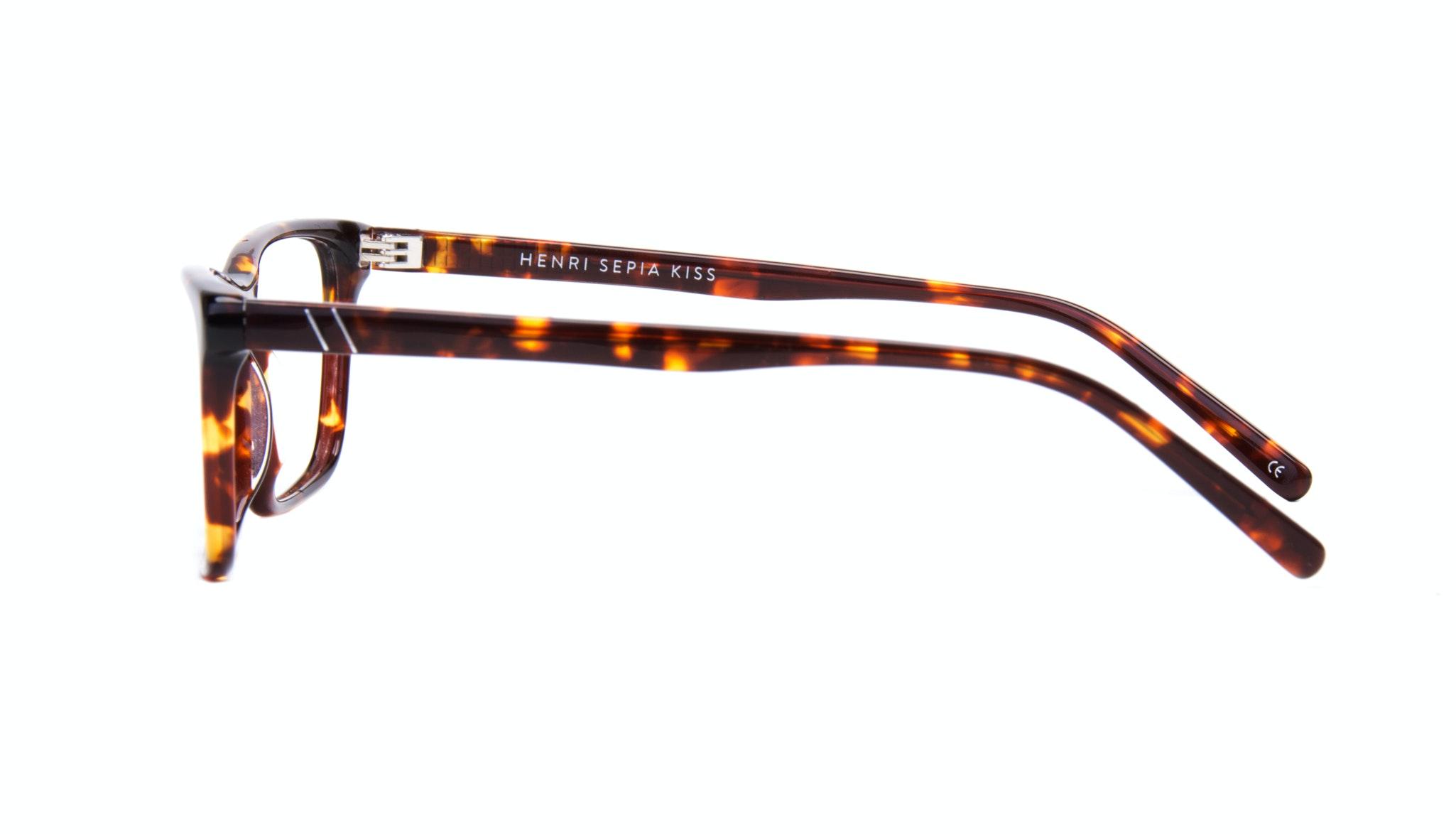 Affordable Fashion Glasses Rectangle Eyeglasses Men Henri Sepia Kiss Side