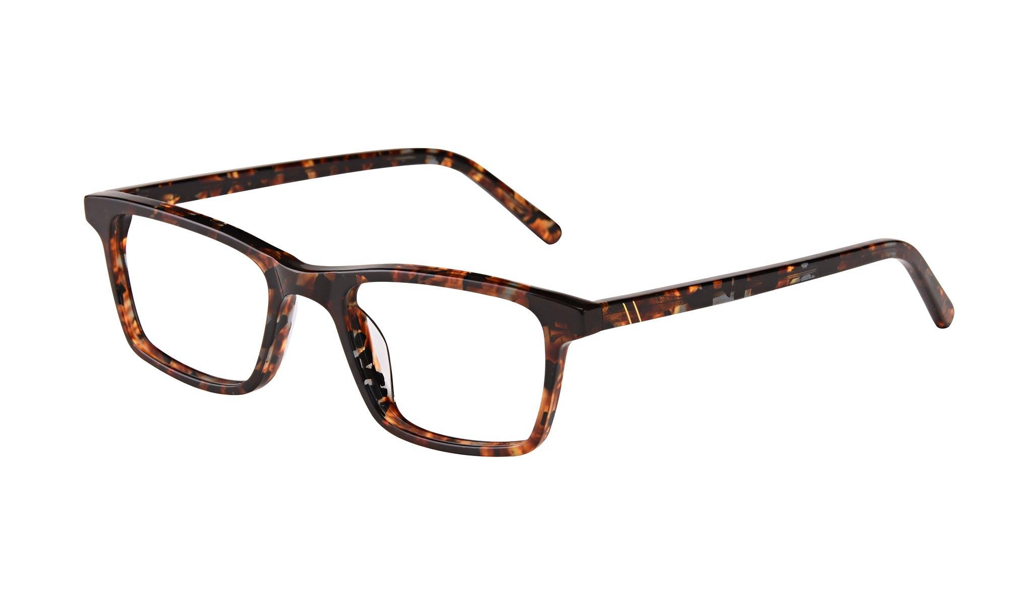 Affordable Fashion Glasses Rectangle Eyeglasses Men Henri SML Mohagany Tilt