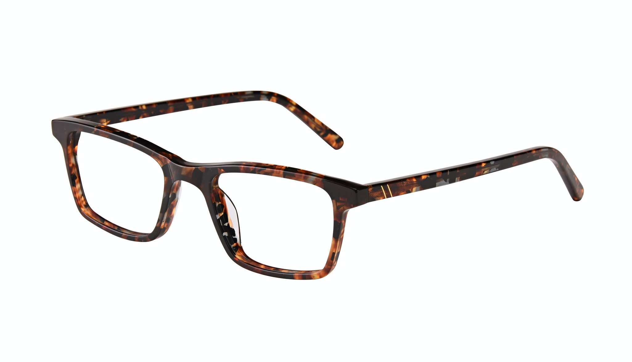 Affordable Fashion Glasses Rectangle Eyeglasses Men Henri SML Mohagany Tilt