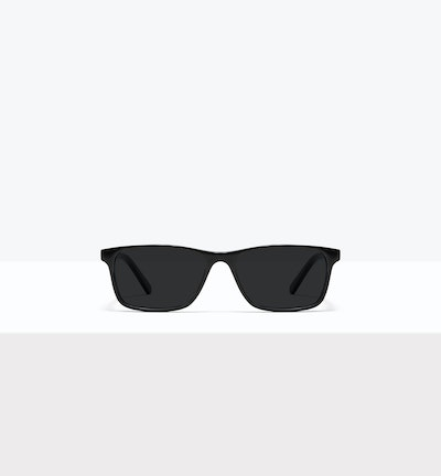 Affordable Fashion Glasses Rectangle Sunglasses Men Henri M Black Front