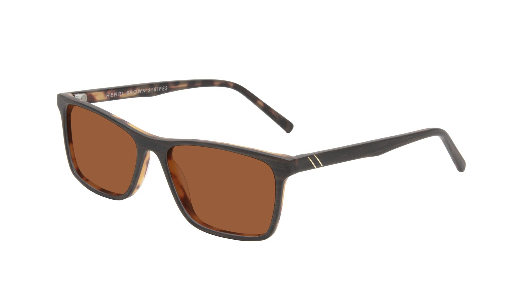 Affordable Fashion Glasses Rectangle Sunglasses Men Henri Brown Stripes Tilt