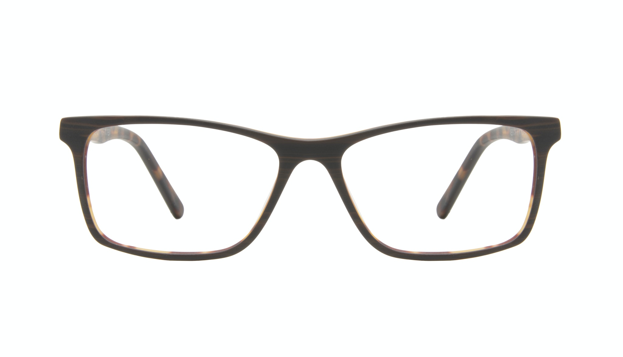 Affordable Fashion Glasses Rectangle Eyeglasses Men Henri Brown Stripes Front