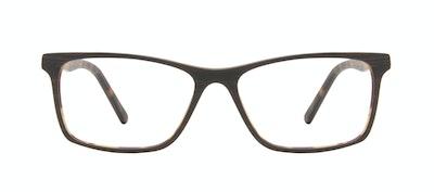 Affordable Fashion Glasses Rectangle Eyeglasses Men Henri Brown Stripes Front