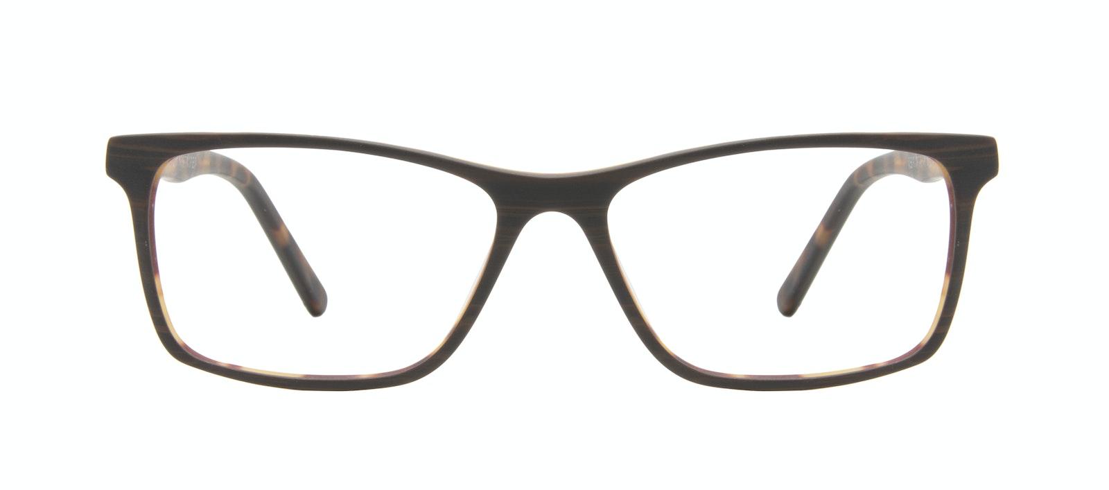 Lunettes tendance Rectangle Lunettes de vue Hommes Henri Brown Stripes Face