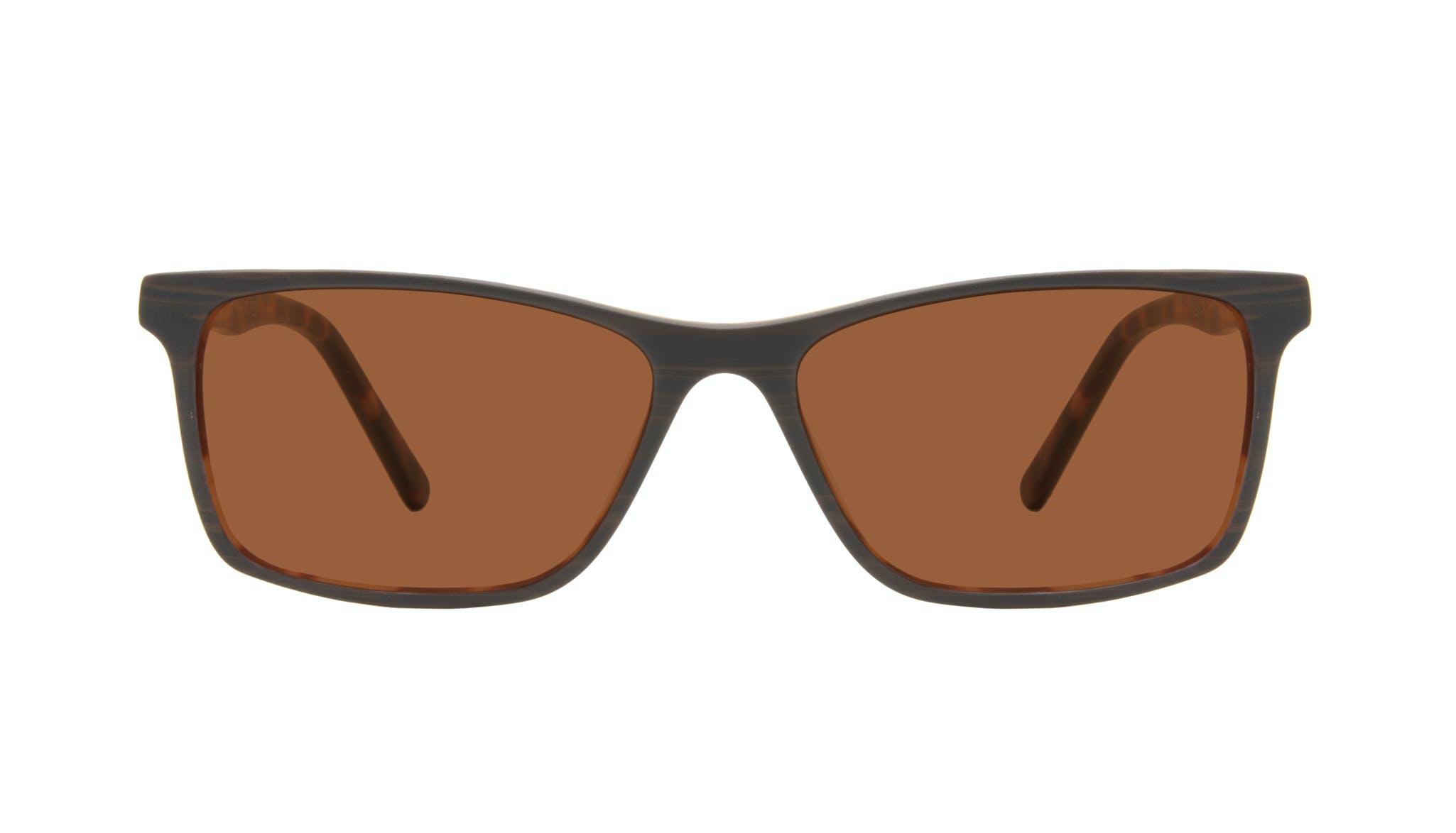 Lunettes tendance Rectangle Lunettes de soleil Hommes Henri Brown Stripes Face
