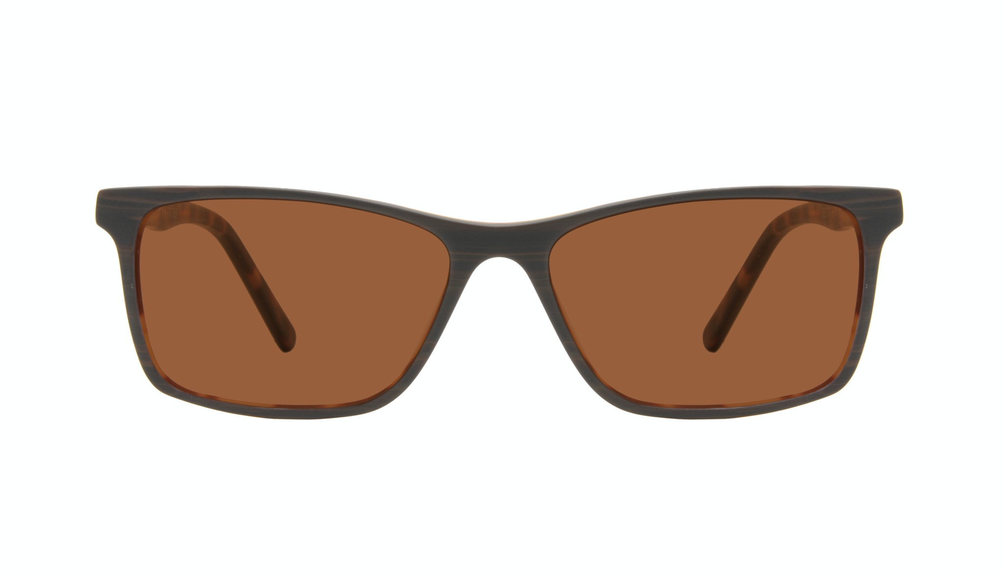 Affordable Fashion Glasses Rectangle Sunglasses Men Henri Brown Stripes