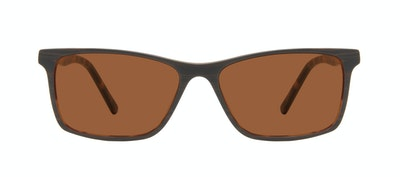 Affordable Fashion Glasses Rectangle Sunglasses Men Henri Brown Stripes Front