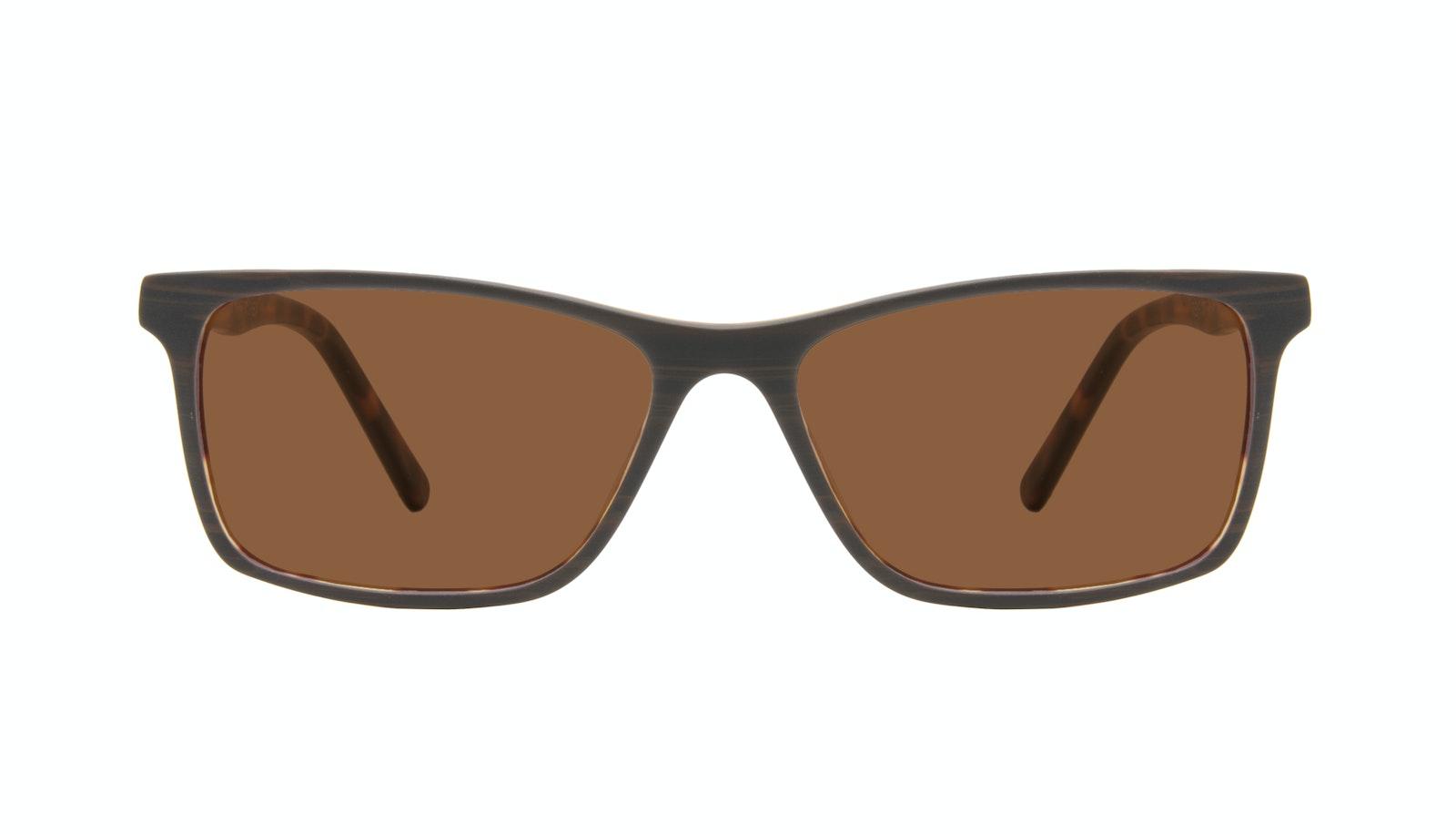 Affordable Fashion Glasses Rectangle Sunglasses Men Henri Brown Stripes