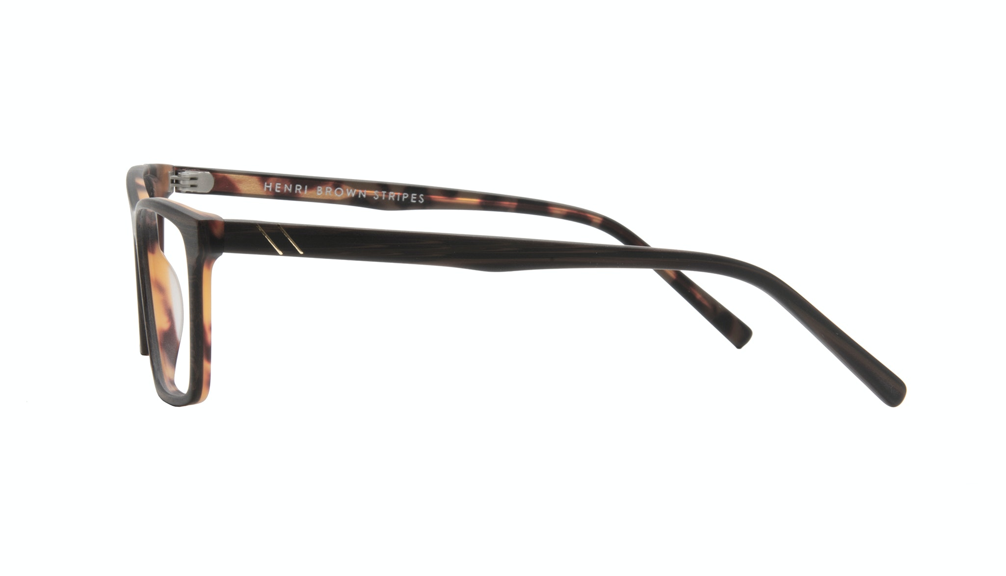 Affordable Fashion Glasses Rectangle Eyeglasses Men Henri Brown Stripes Side