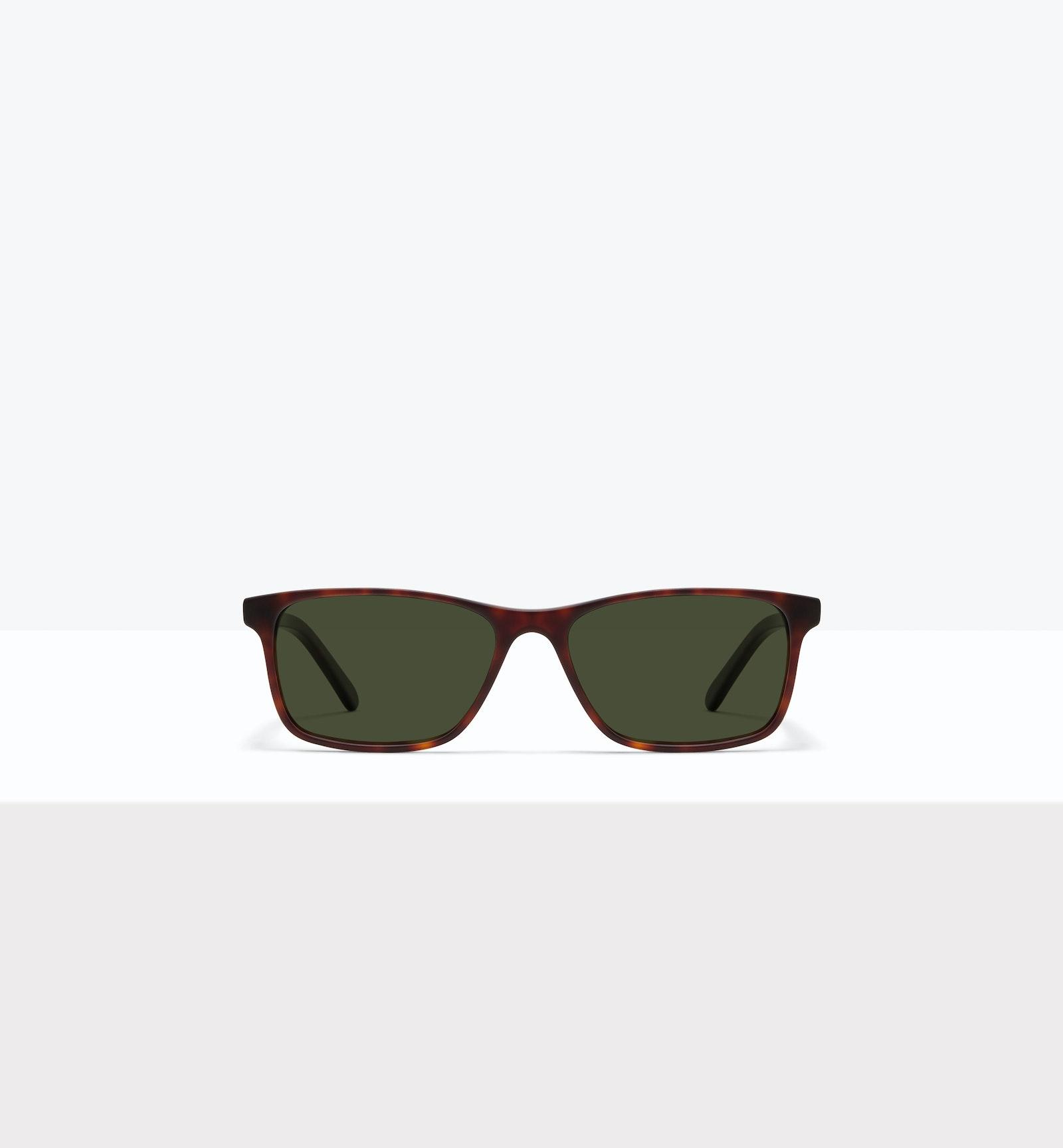 Affordable Fashion Glasses Rectangle Sunglasses Men Henri XL Matte Tort