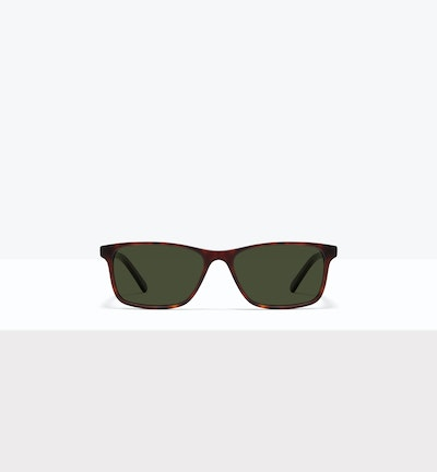 Affordable Fashion Glasses Rectangle Sunglasses Men Henri M Matte Tort Front
