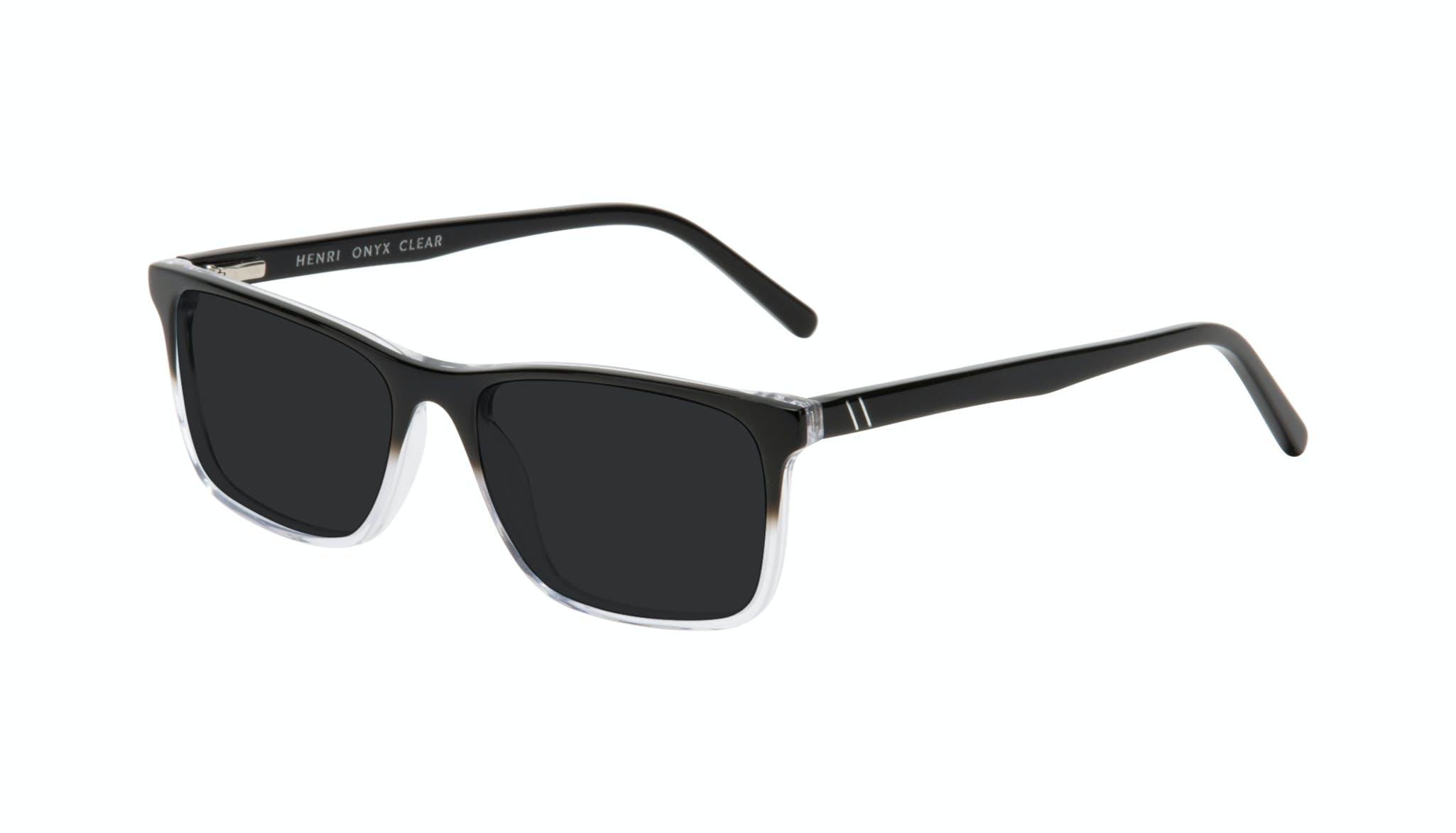 Affordable Fashion Glasses Rectangle Sunglasses Men Henri Onyx Clear Tilt