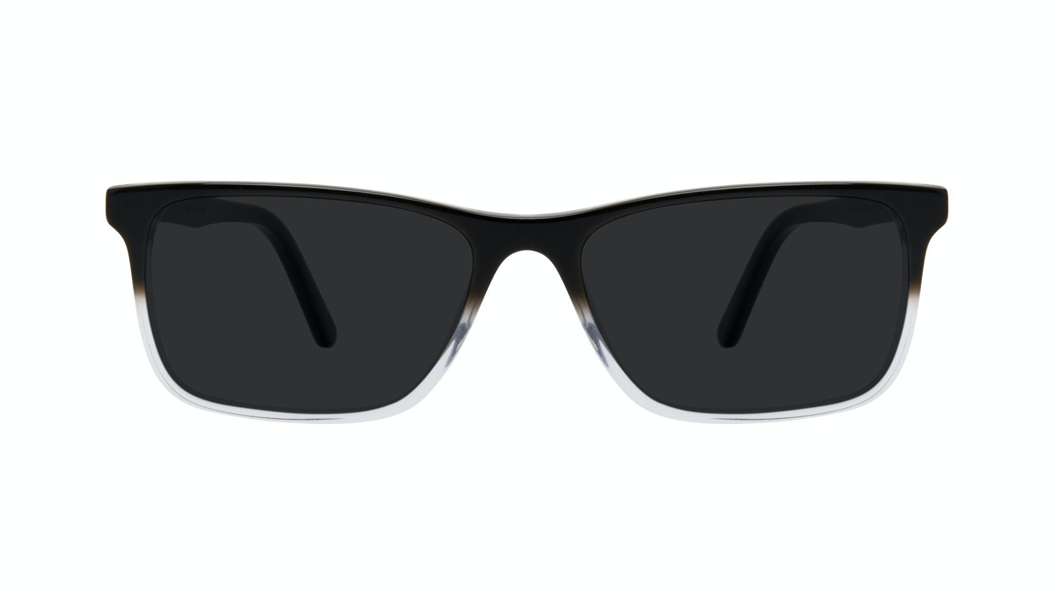 Affordable Fashion Glasses Rectangle Sunglasses Men Henri Onyx Clear Front