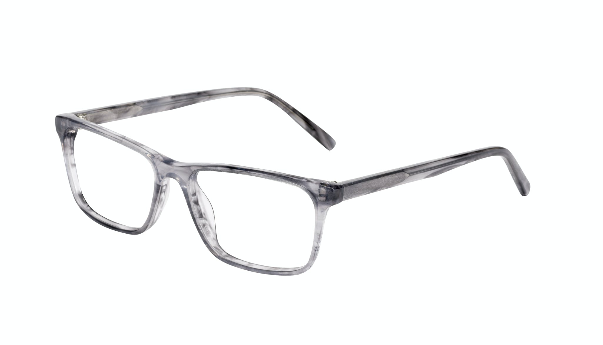Affordable Fashion Glasses Rectangle Eyeglasses Men Henri Smokey Grey Tilt
