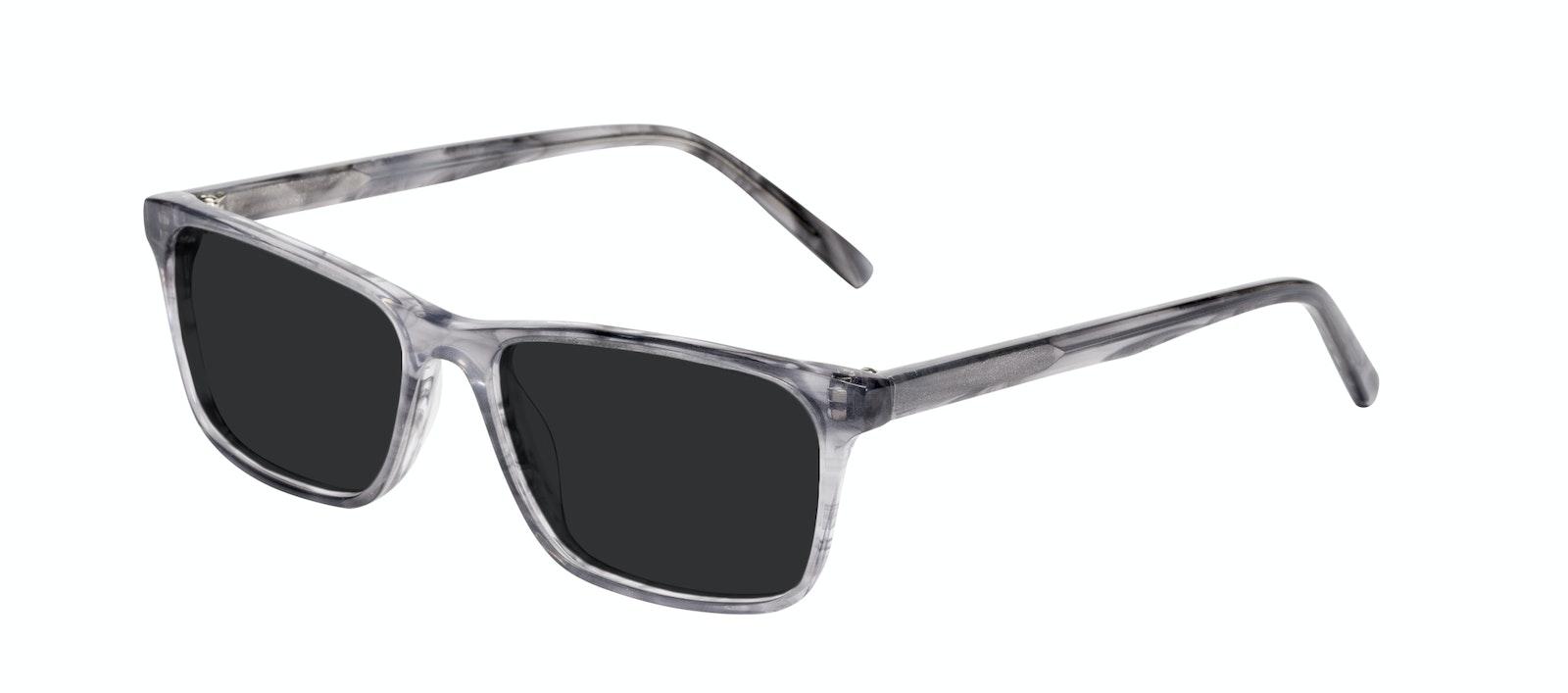 Affordable Fashion Glasses Rectangle Sunglasses Men Henri Smokey Grey Tilt