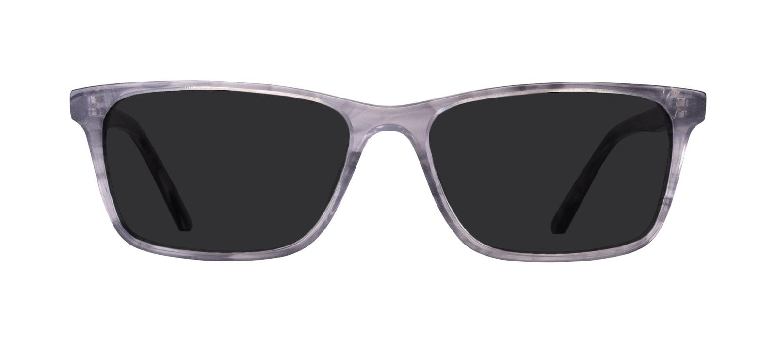 Affordable Fashion Glasses Rectangle Sunglasses Men Henri Smokey Grey Front